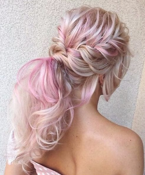 unicorn tail wedding hairstyles for long hair