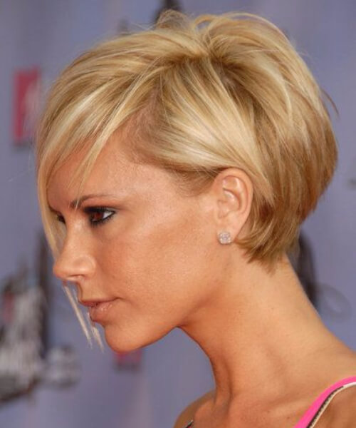 victoria beckham short hairstyles for thick hair