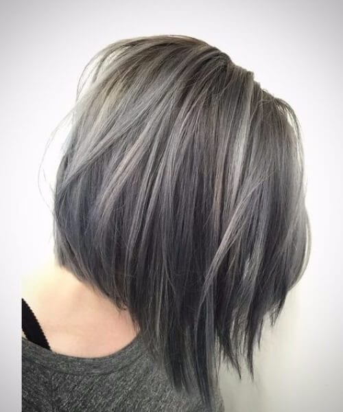 winter slate short hair ombre