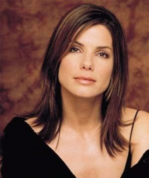 sandra bullock long bob haircuts