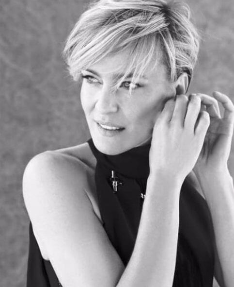 robin wright short hair with bangs