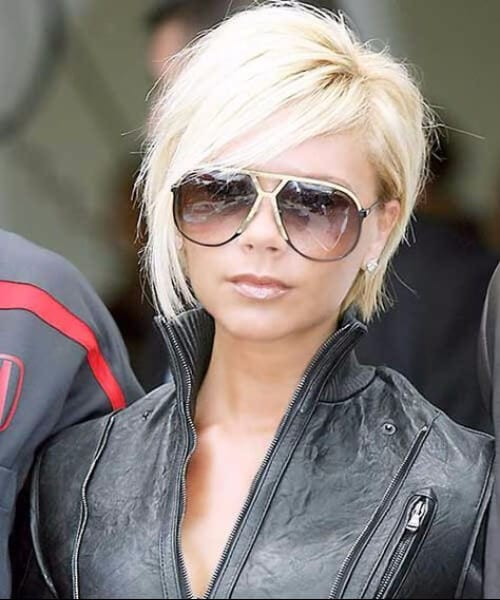 victoria beckham short hair with bangs