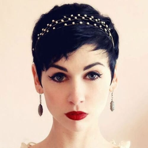 Accessories with Sparkle prom hairstyles for short hair