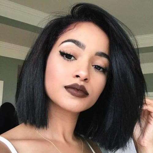 choppy bob hairstyles for black women