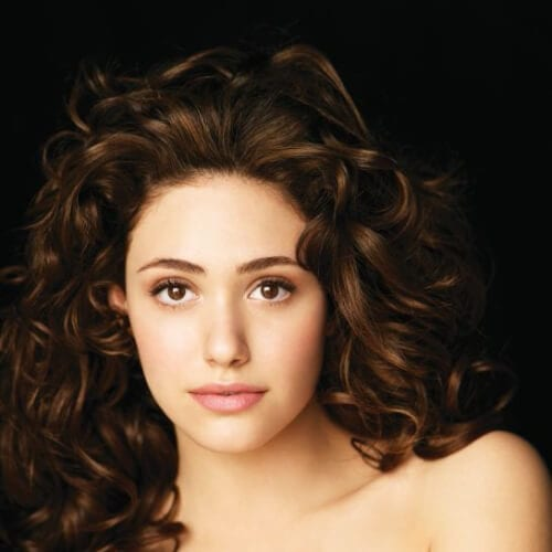 emmy rossum long curly hairstyles