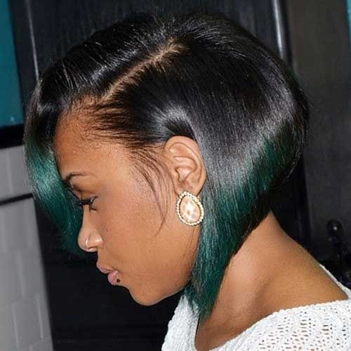 green ombre bob hairstyles for black women