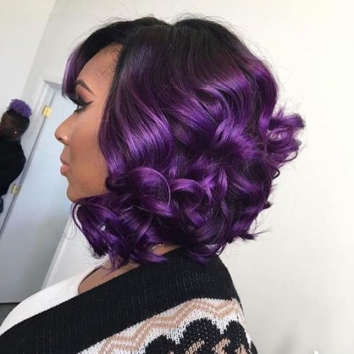 imperial purple bob hairstyles for black women