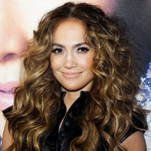 jennifer lopez long curly hairstyles