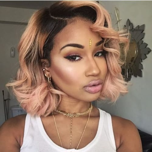 peach bob hairstyles for black women