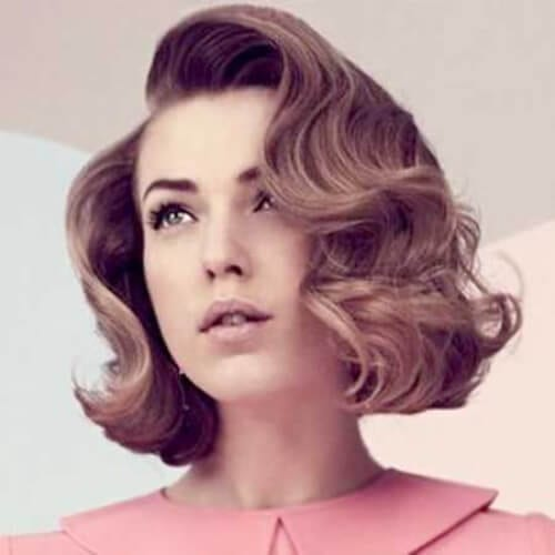 retro curls prom hairstyles for short hair