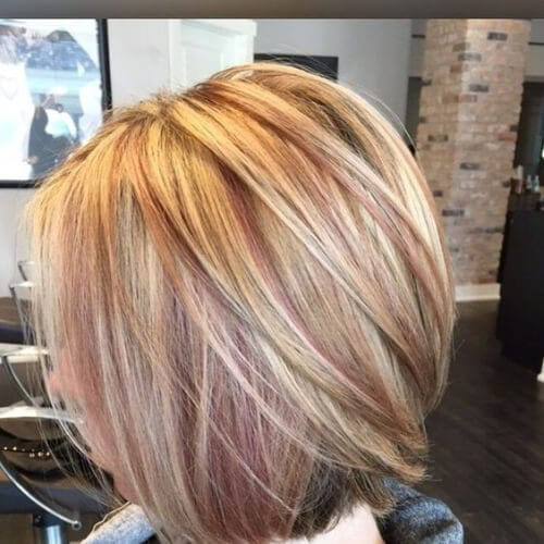 shades of copper peekaboo highlights