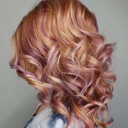 50 Colorful Peekaboo Highlights My New Hairstyles