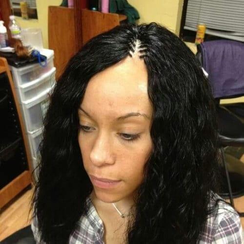 Tree braids with wet n wavy hair