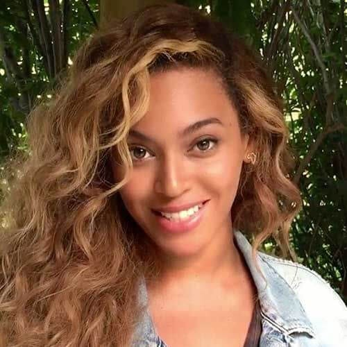 beyonce honey brown hair