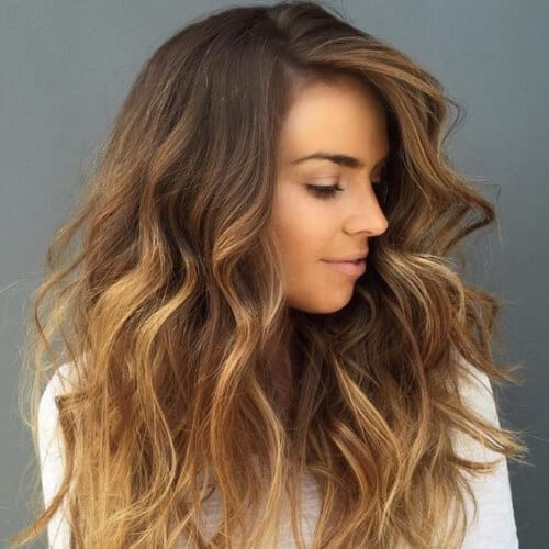 cabello strightener miel cabello castaño