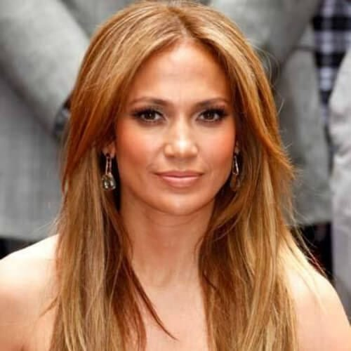 jennifer lopez honey brown hair