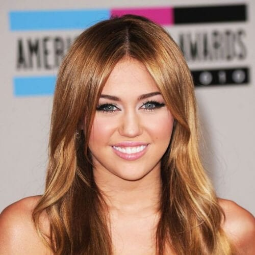 miley cyrus honey brown hair