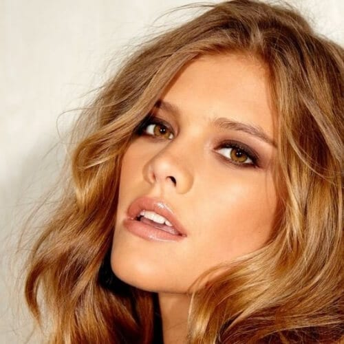 nina agdal honey brown hair