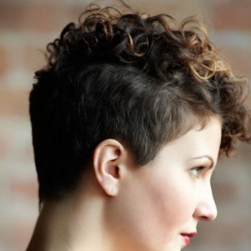 simple curly pixie cut