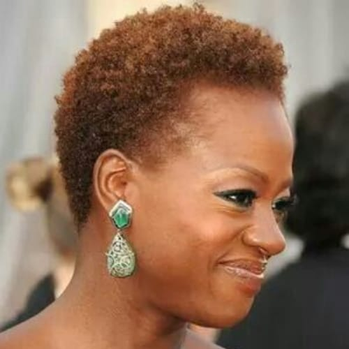 viola davis curly pixie cut