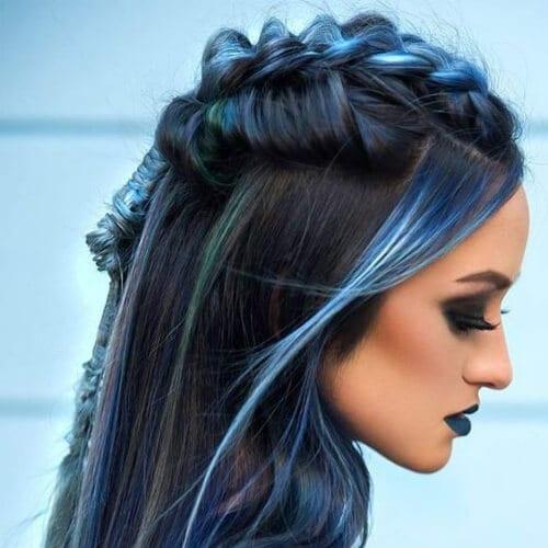 blue braid hairstyles for long hair