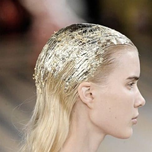 gold leaf blonde hairstyles