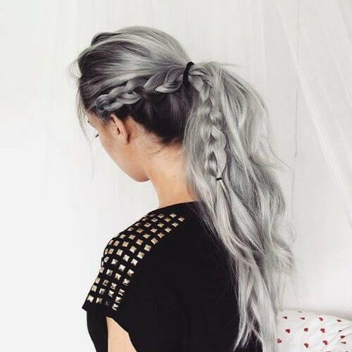 gray braid hairstyles for long hair