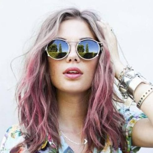 lavender cool hairstyles for girls