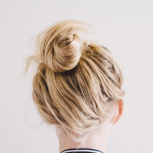 messy top knot cool hairstyles for girls