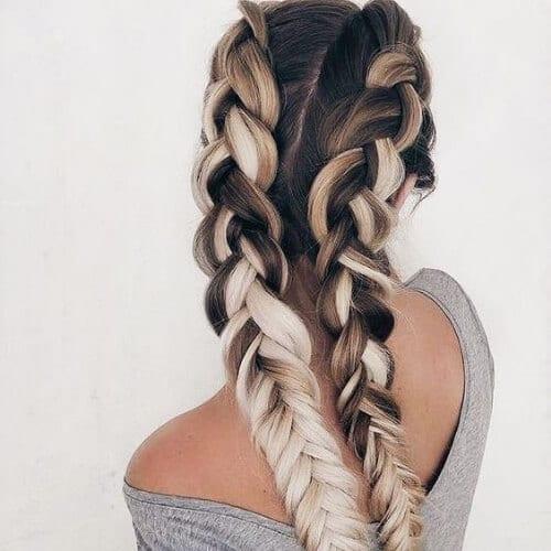 millk and coffee braid hairstyles for long hair