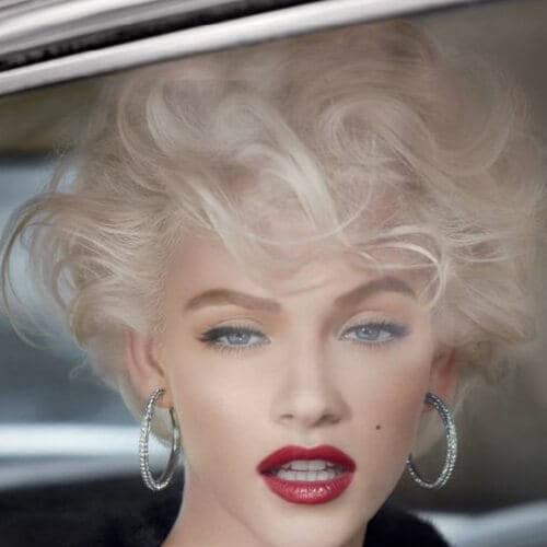 modern monroe blonde hairstyles