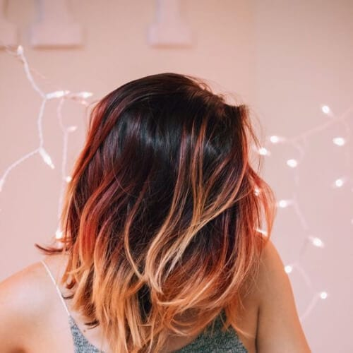 orange short hair with highlights