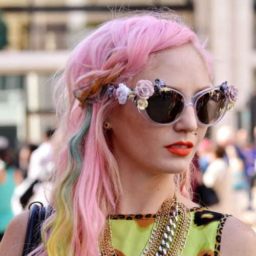 pastel cool hairstyles for girls