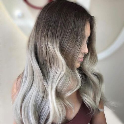 platinum on ray blonde high highlights and lowlights