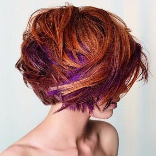 purple on copper high highlights and lowlights