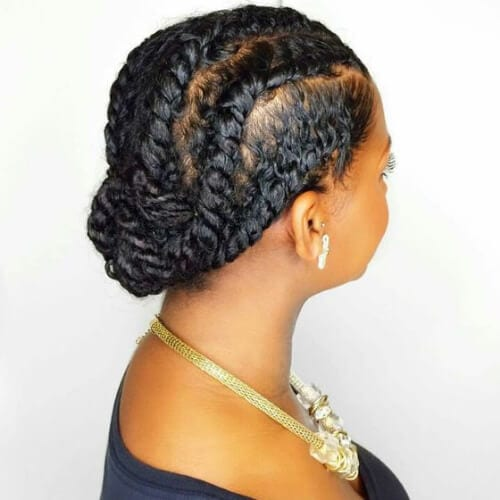 Flat Twist Low Bun