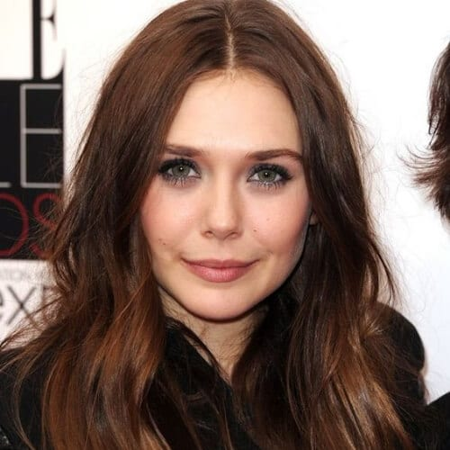 elizabeth olsen chestnut hair color