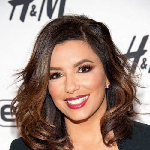 eva longoria chestnut hair color