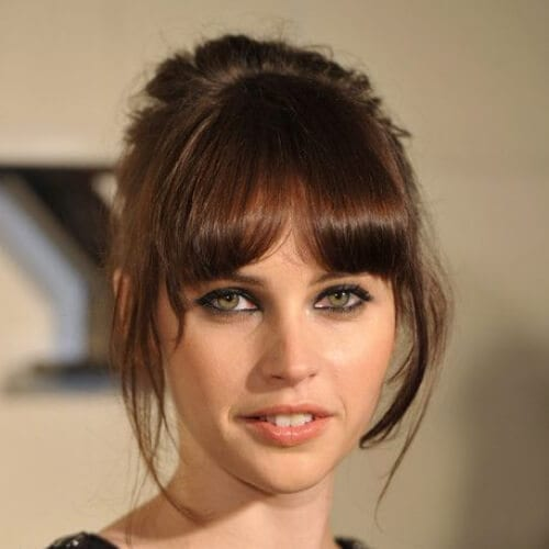 felicity jones chestnut hair color