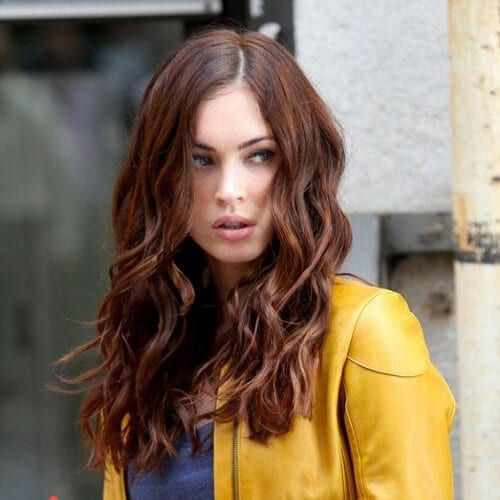 megan fox chestnut hair color