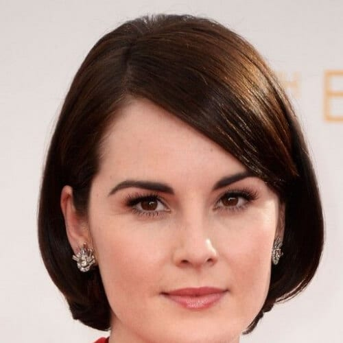 michelle dockery short haircuts for fine hair