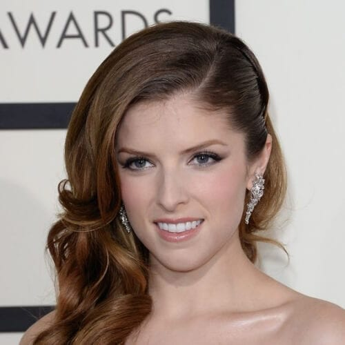 anna kendrick side hairstyles for prom