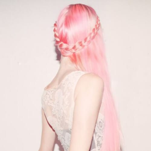 cotton candy side hairstyles for prom