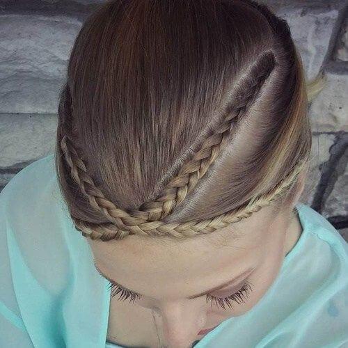crossed braided bang hairstyles