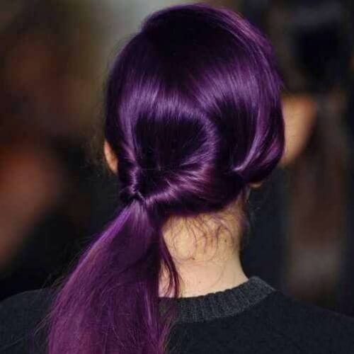 eggplabt purple side hairstyles for prom