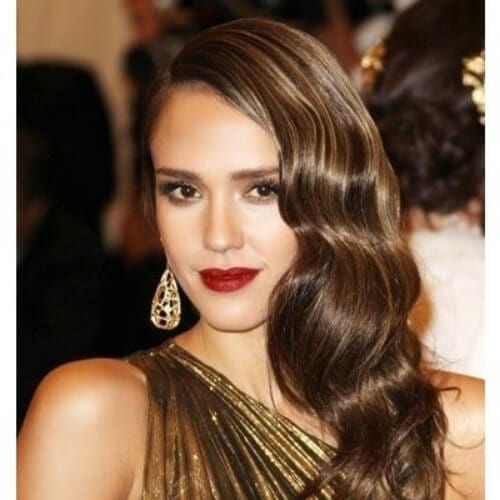 jessica alba side hairstyles for prom