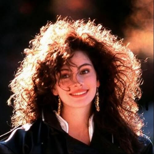 julia roberts curly hair with bangs