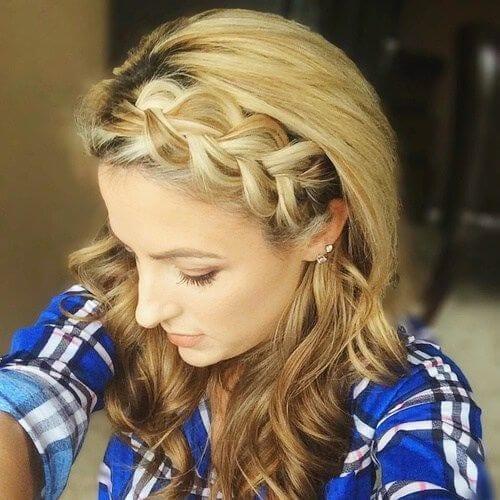 jumbo braided bang hairstyles