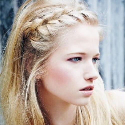summer braided bang hairstyles