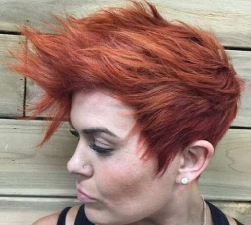 Short Choppy Red short punk hairstyles